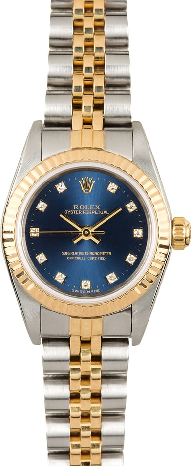 Rolex Ladies Oyster Perpetual 76193 Diamond Dial