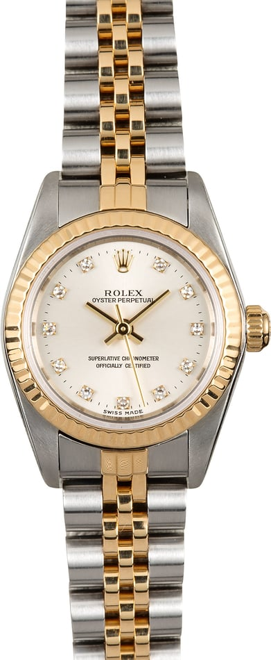 Rolex Ladies Oyster Perpetual Diamond 76193