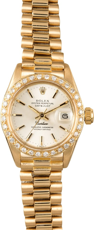 Rolex Ladies President 6917 Cartier Dial