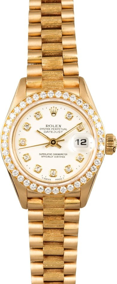 Rolex Ladies President 69288 Diamonds