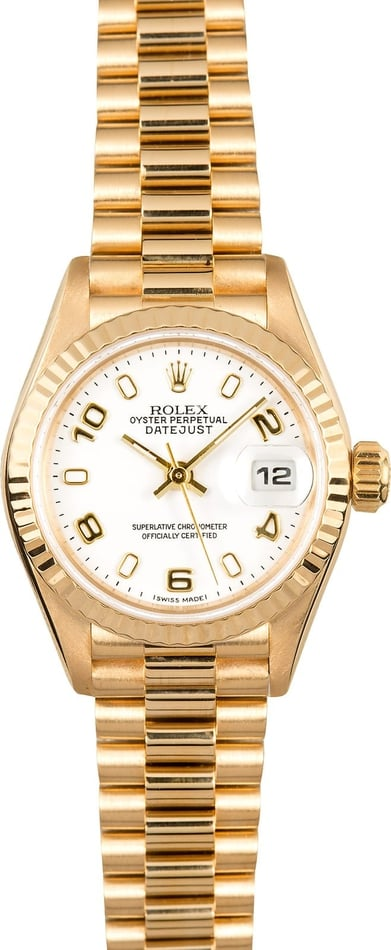 Rolex Ladies President 79178 White Dial