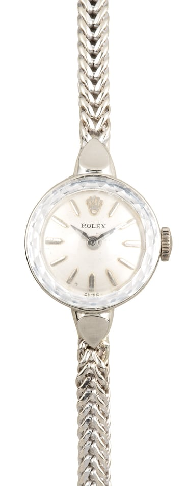 Rolex Ladies White Gold Cocktail Watch