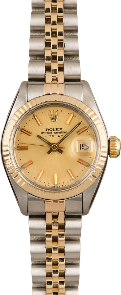 Pre-Owned Rolex Ladies Date 6917 Champagne Dial T