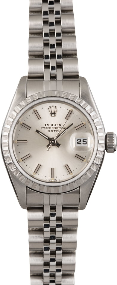 Pre Owned Rolex Date 79190 Silver Index Dial