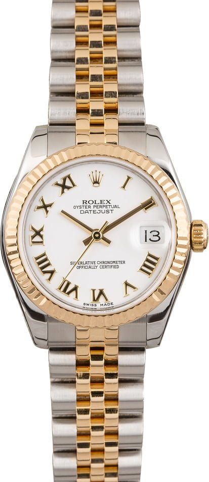 PreOwned Rolex Datejust 178273 White Roman Dial