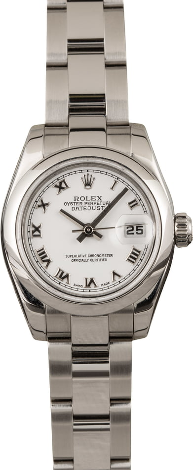 Pre-Owned Rolex Ladies Datejust 179160 White Roman Dial