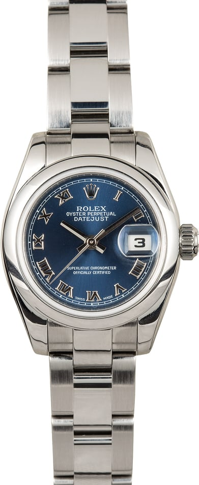 Rolex Lady-Datejust 179160 Blue Dial