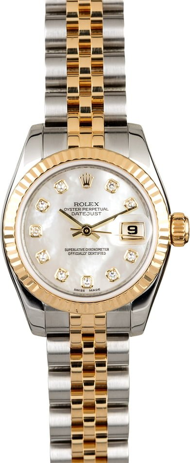 Women's Rolex Datejust 179173 MOP Diamond Dial