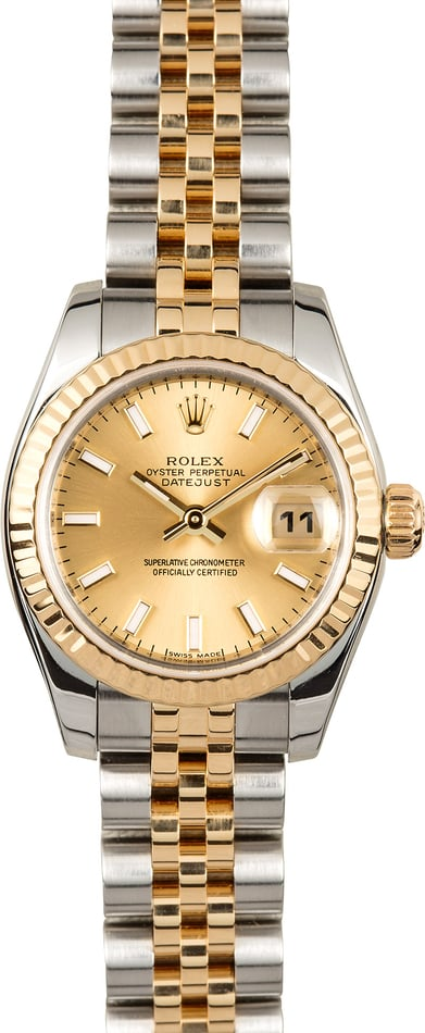 Rolex Lady-Datejust 179173 Champagne