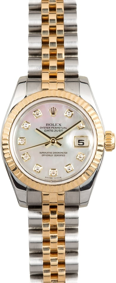 Rolex Lady-Datejust 179173 Diamond Mother of Pearl