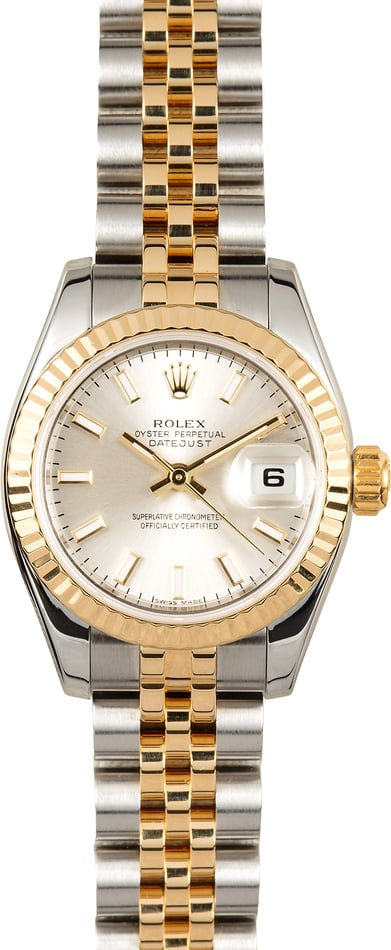 Rolex Lady-Datejust 179173 Silver Index