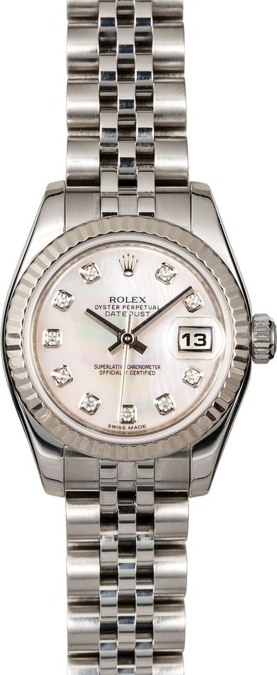 Rolex Ladies Datejust 179174 MOP Diamond
