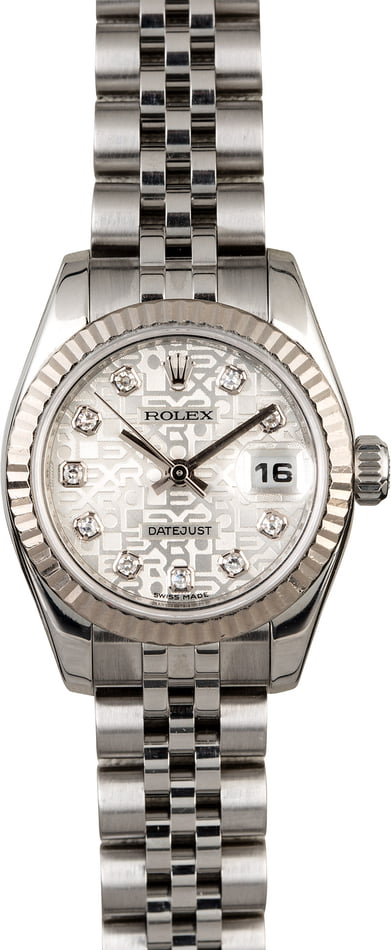 Rolex Lady Datejust 179174 Silver Jubilee Diamond Dial