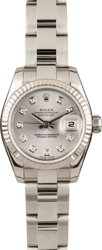 Pre-Owned Rolex Ladies Datejust 179174 Diamond Dial