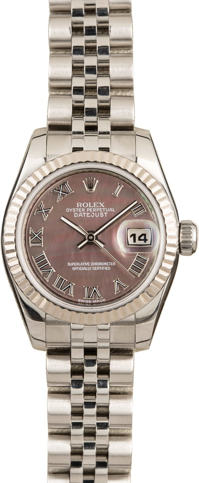 Pre-Owned Rolex Datejust 179174 Black MOP Dial