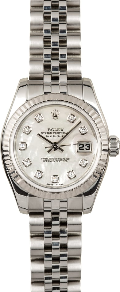 Rolex Lady-Datejust 179174 Mother of Pearl Diamond