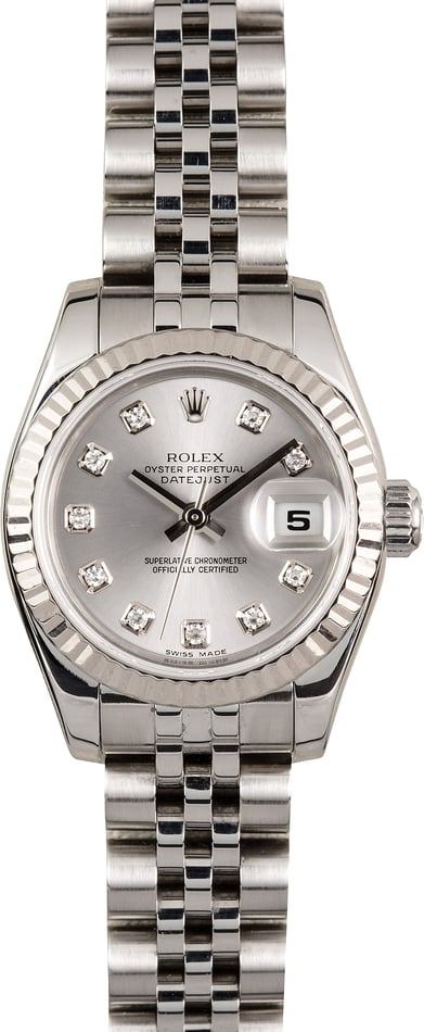 Rolex Lady-Datejust 179174 Rhodium Diamond