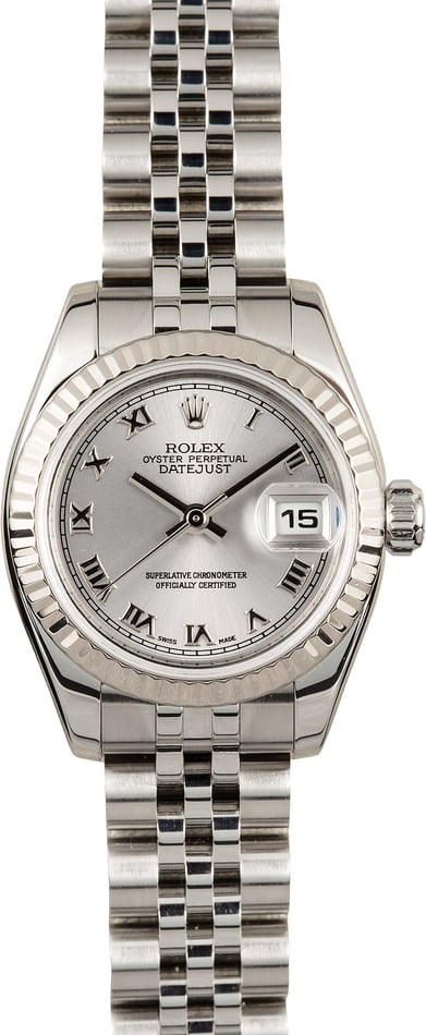 Rolex Lady-Datejust 179174 Rhodium Roman