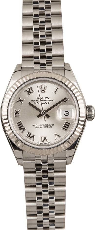 Pre Owned Rolex Datejust 279174 Silver Roman Dial