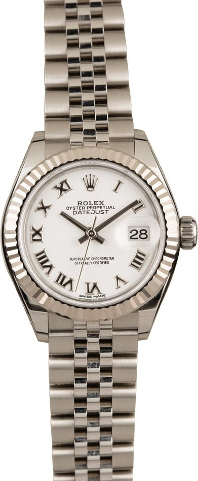 Pre-Owned Rolex Datejust 279174 White Roman Dial