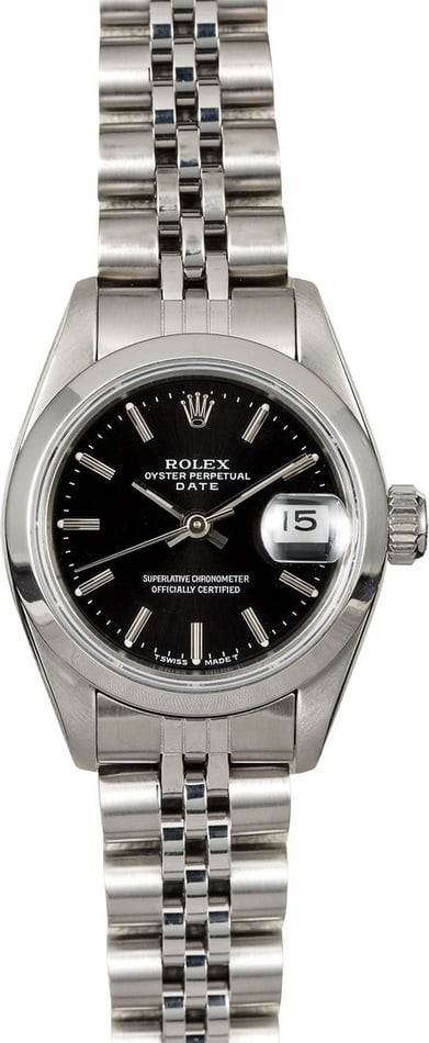 Rolex Lady Datejust 69160 Black Dial