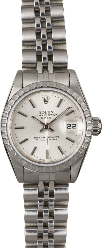 Rolex Ladies Datejust 69160 Silver Dial