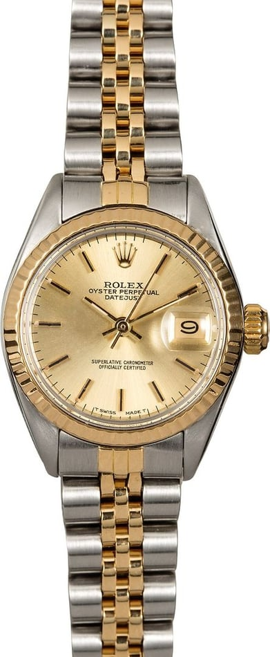 Ladies Rolex Date 6917 Two-Tone Jubilee