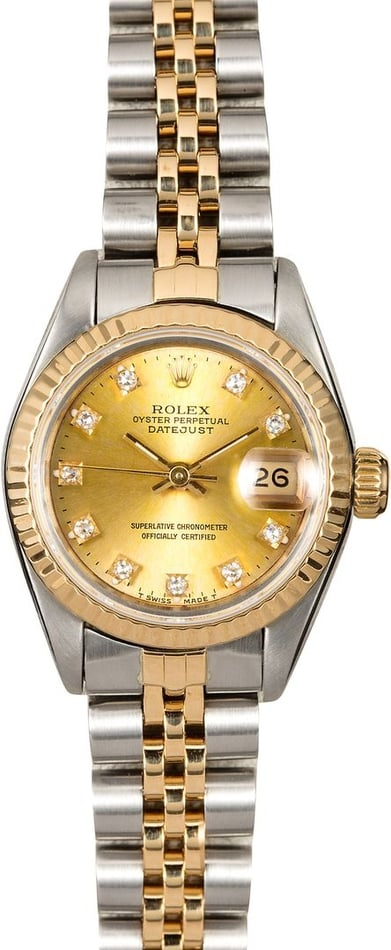 Rolex Lady Datejust 69173 Champagne Diamond Dial
