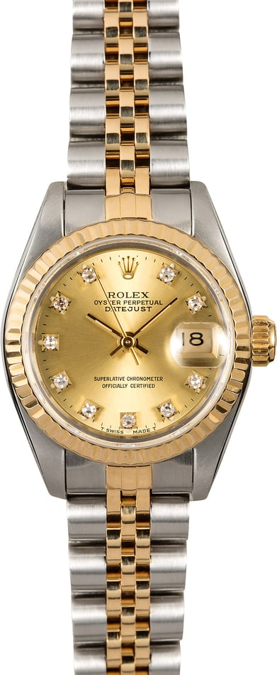 Rolex Lady Datejust 69173 Diamond Dial Two Tone Jubilee