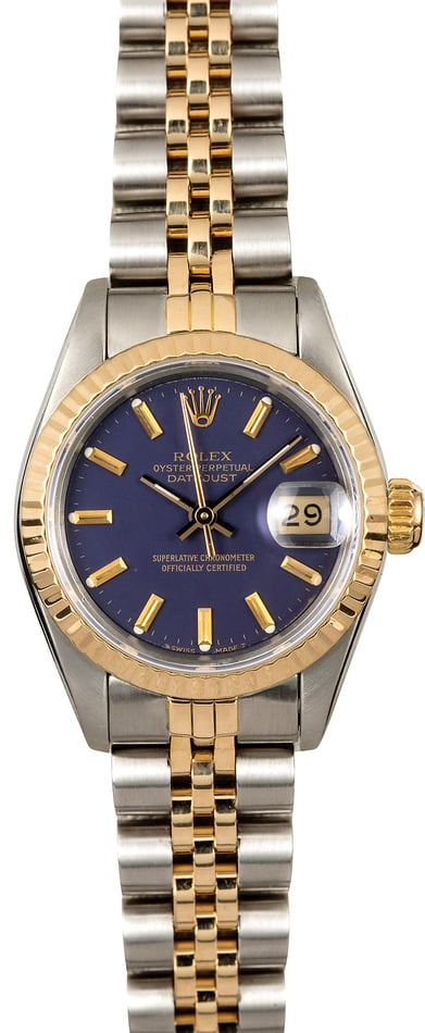 Blue Dial Rolex Ladies Datejust 69173