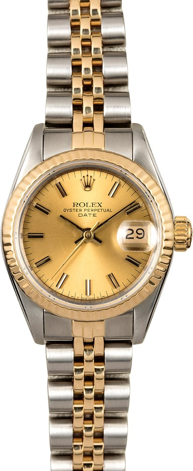 Rolex Lady Datejust 69173 Champagne Dial Two Tone Jubilee