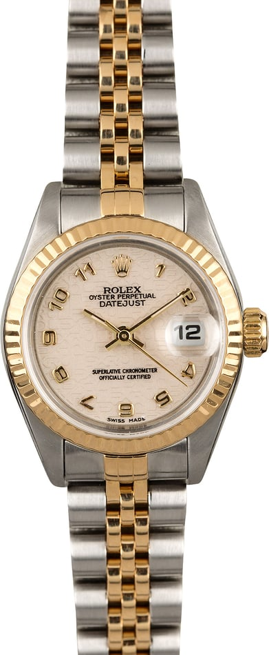 Rolex Ladies Datejust 69173 Ivory Arabic Dial
