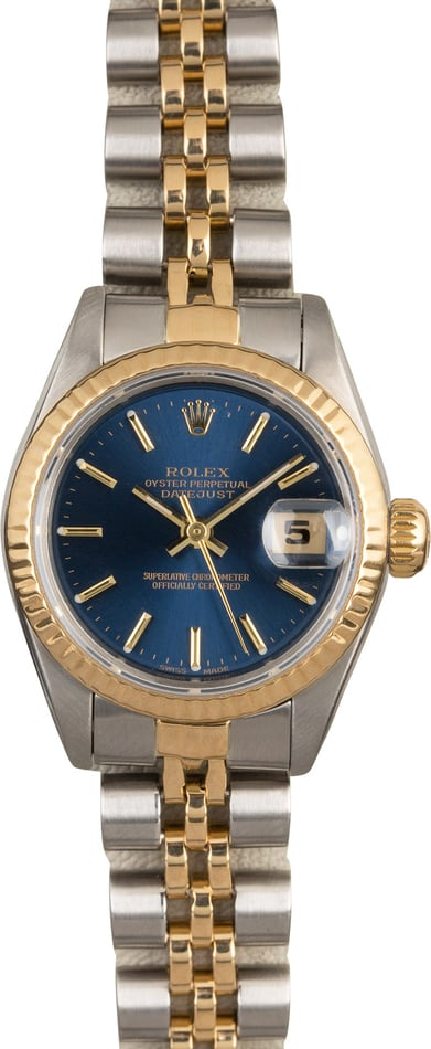 Women's Rolex Datejust 69173 Blue Dial