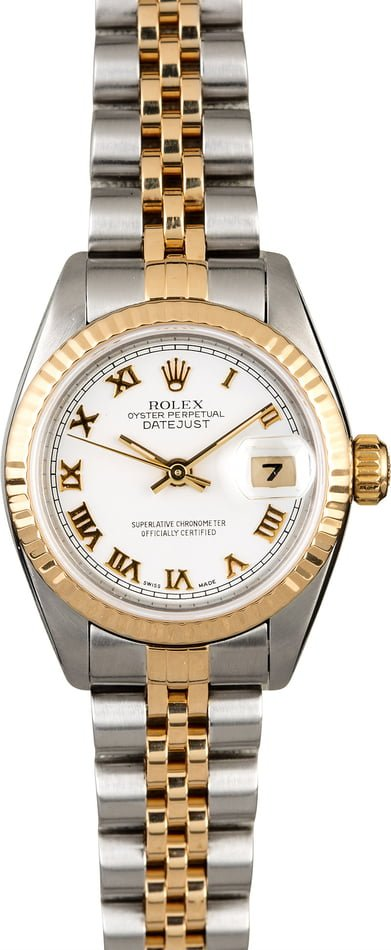 Women's Rolex Datejust 69173 Two Tone Jubilee Bracelet