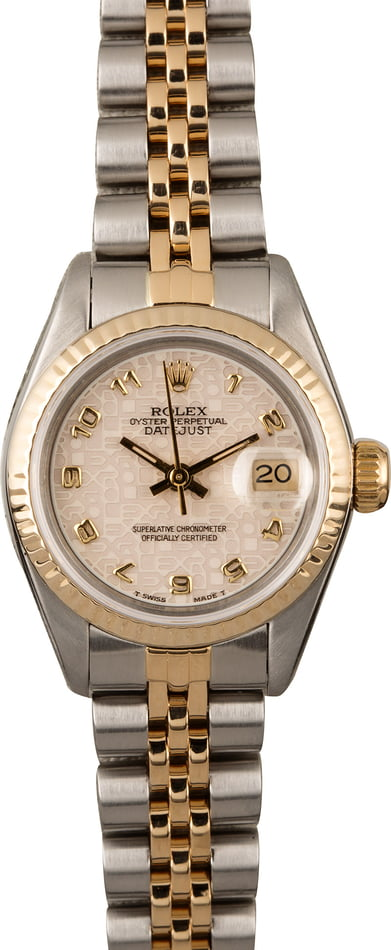 Rolex Ladies Datejust 69173 Ivory Jubilee Arabic Dial