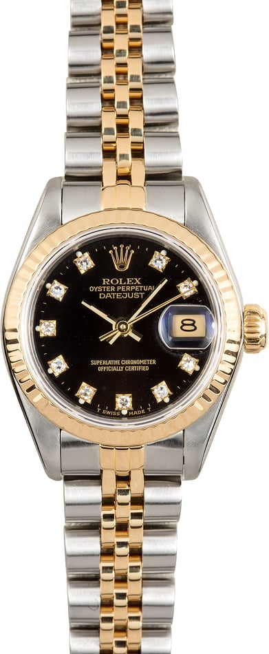 Rolex Lady-Datejust 69173 Black Diamond Dial