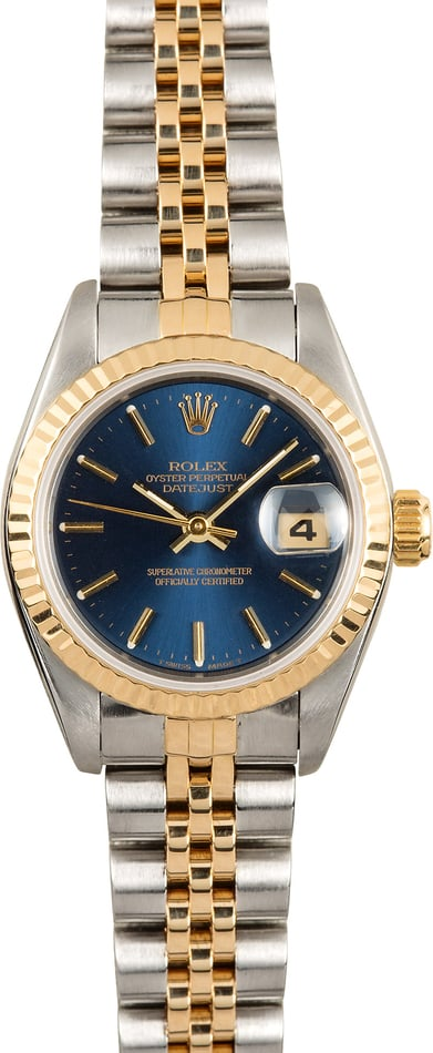 Rolex Lady Datejust 69173 Blue Index Dial