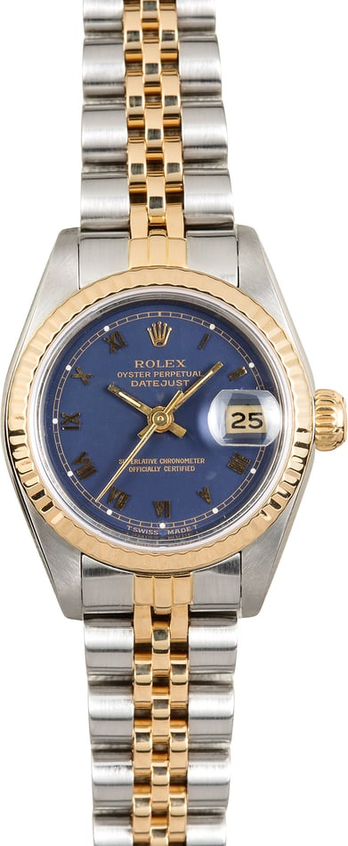 Rolex Lady Datejust 69173 Blue Roman