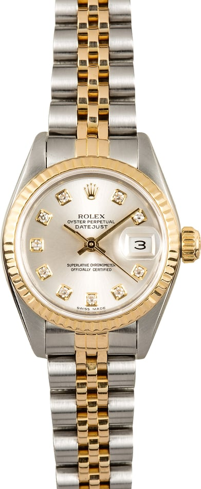 Rolex Lady-Datejust 69173 Silver Dial