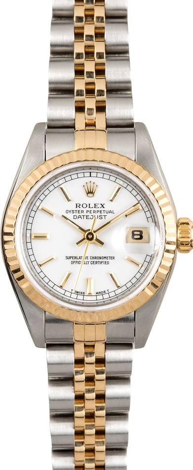Rolex Lady-Datejust 69173 White Index