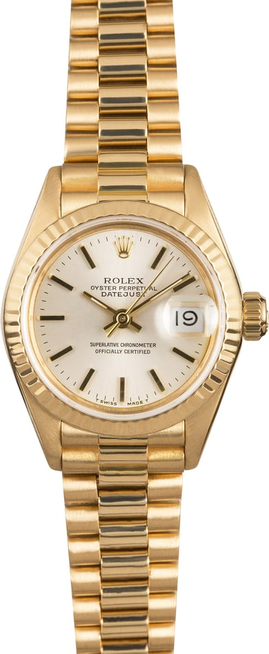 Rolex Lady Datejust 69178 Silver Dial