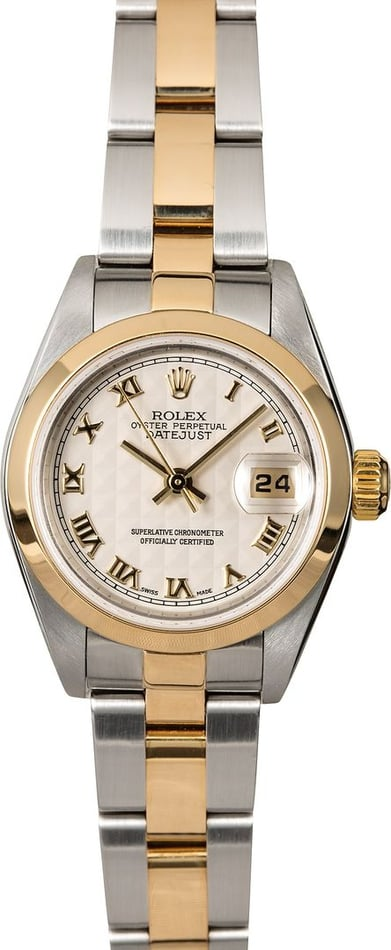 Genuine Rolex Lady Datejust 79163 Ivory Pyramid Dial