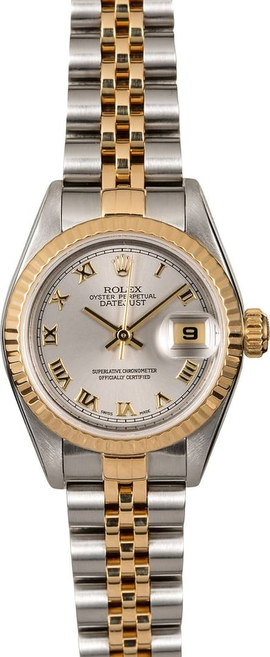 Ladies Rolex Datejust 79173 Slate Roman Dial