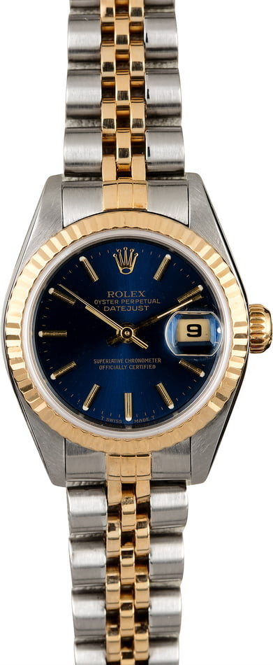Rolex Ladies Datejust 79173 Blue Index Dial