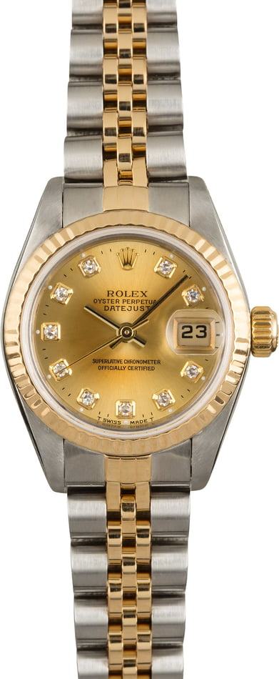 Pre Owned Rolex Lady Datejust 79173 Diamonds