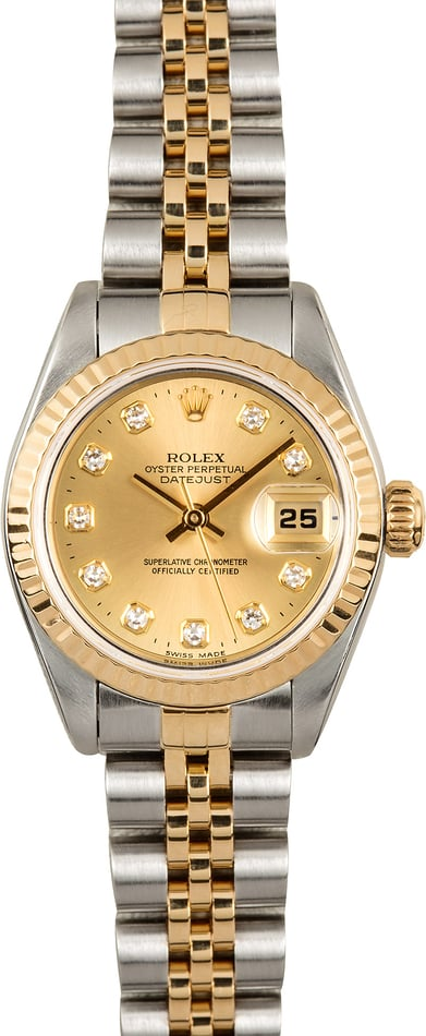 Rolex Ladies Datejust 79173 Champagne Diamond Dial
