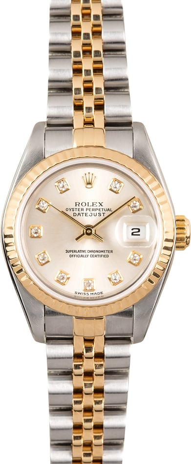 Rolex Lady-Datejust 79173 Silver Diamond Dial