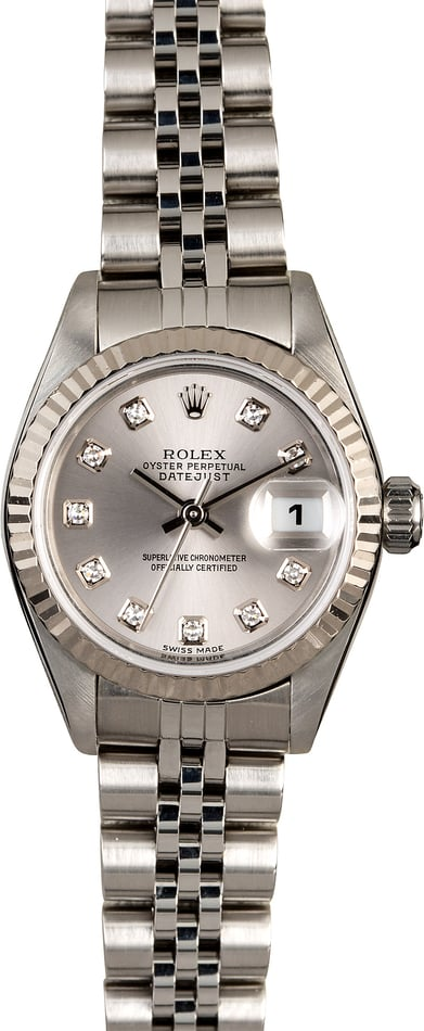 Women's Rolex Datejust 79174 Rhodium Diamond Dial