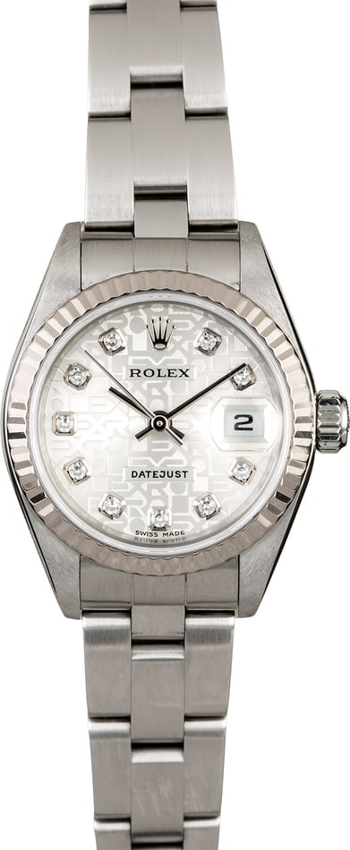 Ladies Rolex Datejust 79174 Silver Jubilee Diamond Dial