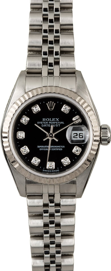 Rolex Ladies Datejust 79174 Black Diamond Dial